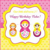 Doll Birthday Backdrop