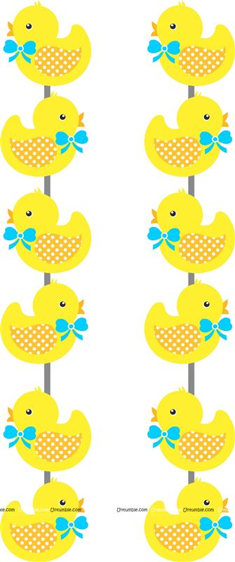 4 ft Yellow duck danglers (Pack of 2)