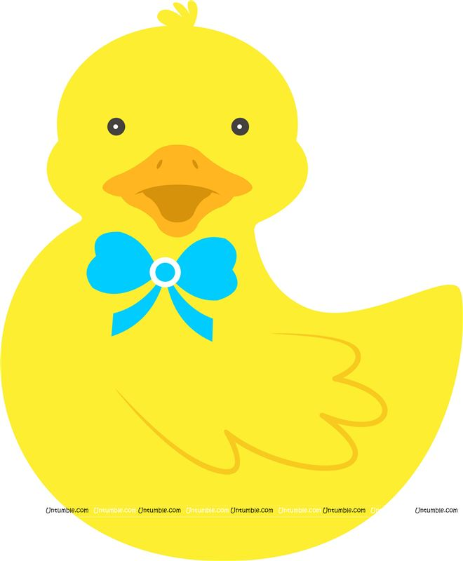 Happy rubber duck poster