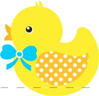 Blue baby Duck poster