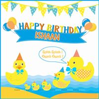 Cute Duck theme Birthday Banner
