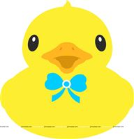 Rubber Duck with bow poster
