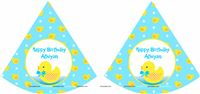 Yellow Duck Party Caps (Set of 6)