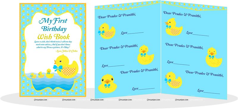 Yellow duck custom wish book