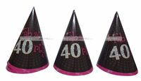 40th Birthday Hats (Set of 6)