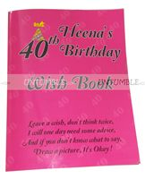 40th Birthday theme Wish book