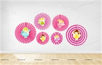 Fairy Princess Party Paper Fan decorations