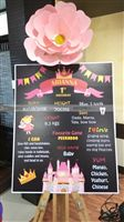 1st birthday Chalkboard - Princess theme