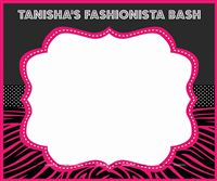 Fashionista theme photo booth