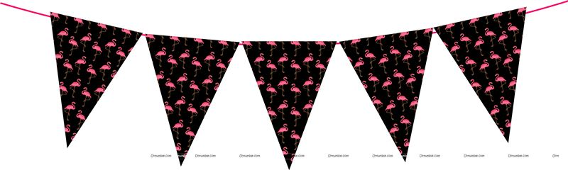 Flamingo Triangle Bunting Banner