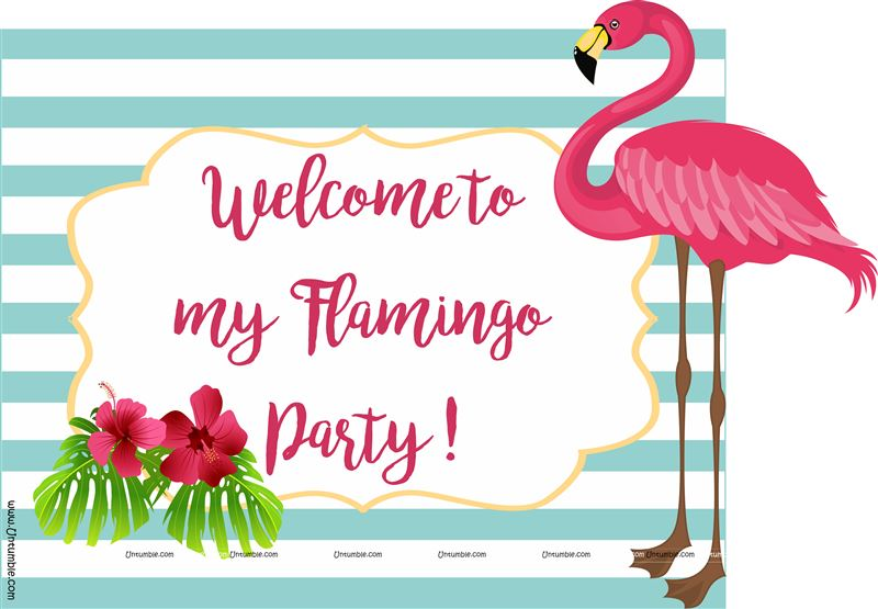 Flamingo Welcome Poster