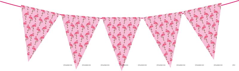 Pink Triangle Bunting Banner