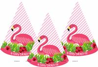 Pink Flamingo Party Hats (Set of 6)