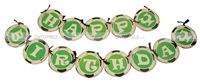 Football birthday theme Happy Birthday Banners