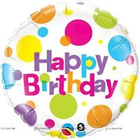 Polka Happy birthday Foil balloon