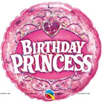 Birthday Princess Foil Balloon