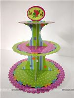 Pink and Green Cup Cake Stand