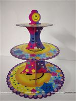 Smiley Cup Cake Stand