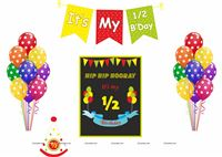 Multicolour half birthday/ six month birthday pack