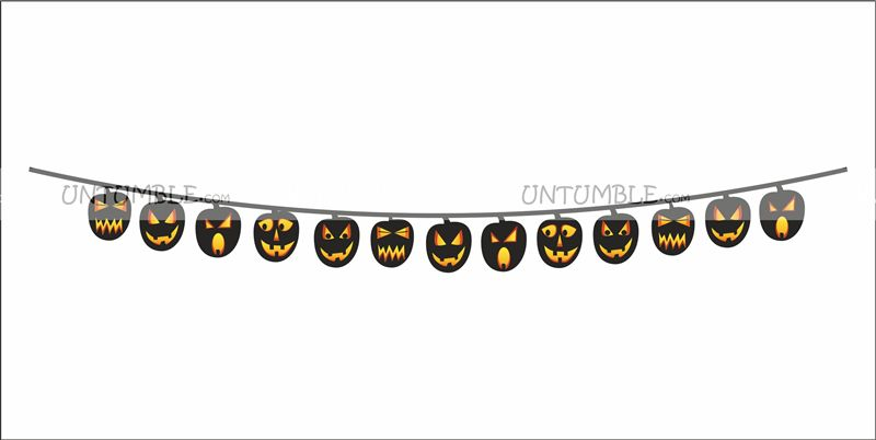 Scary pumpkin bunting