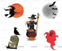 Halloween Theme Poster Pack of 5
