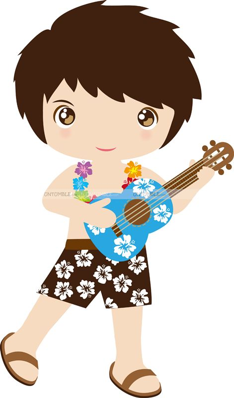 Boy with guitar poster