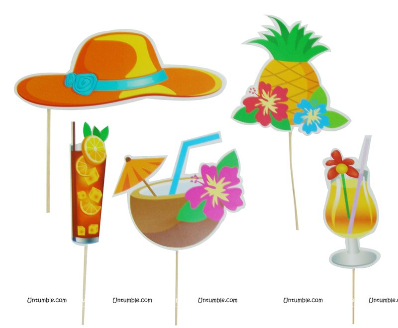 Hawaiian Party theme Photo Booth Props