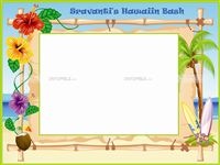 Hawaiian Party theme Photo Frame