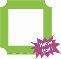 Happy Holi Photo Booth Frame