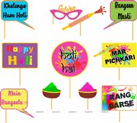 Holi Party Photo Props
