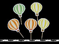 Hot Air Balloon Supplies theme Cup cake toppers