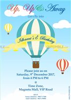 Hot Air Balloon Birthday Invite