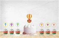 Hot Air Balloon Cup Cake Toppers