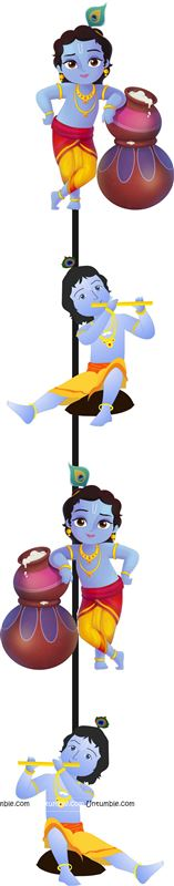 4 ft Little Krishna danglers (Pack of 2)