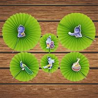 Krishna Party Paper Fan decorations