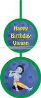 Little Krishna Birthday theme Disc Danglers