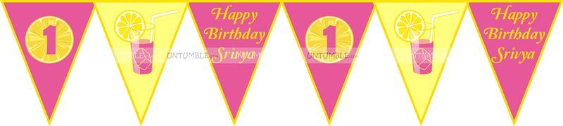 Lemonade Birthday Bunting