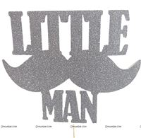 Cake Toppers - Customized - Little Man Theme Party supplies | Mustache Themed 1st Birthday