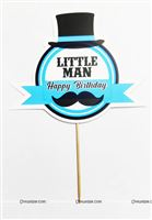 Little Man Theme Cake Topper