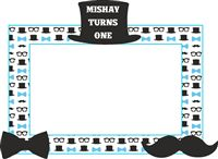 Little Man Birthday | Boss Baby | Mustache theme Photo Booth