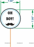 Little Man Birthday | Boss Baby | Mustache theme Photo Booth Props