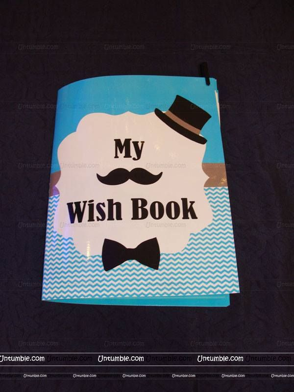 Little Man Birthday | Boss Baby | Mustache theme Wish book