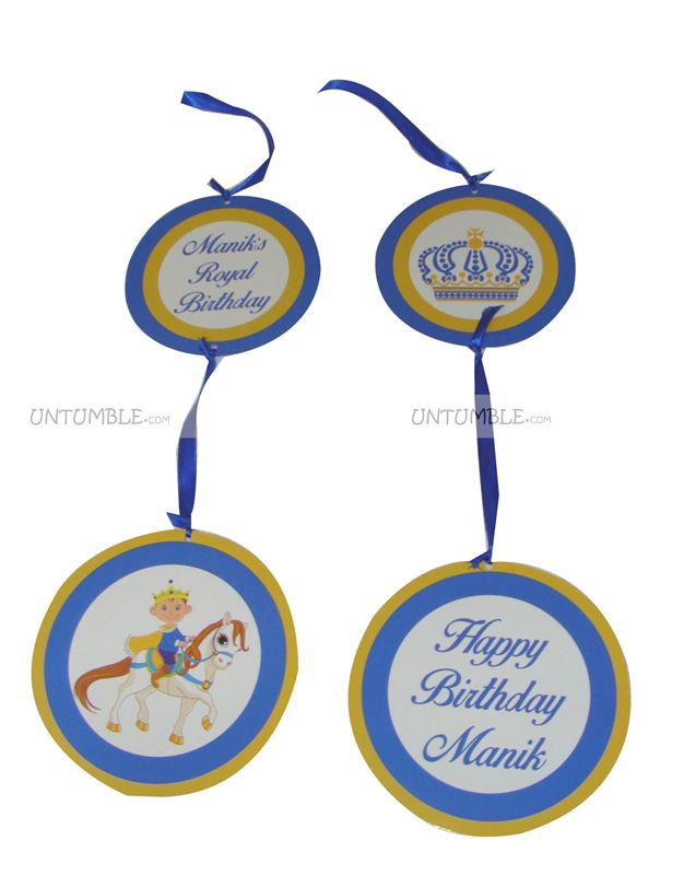 Little Prince Birthday theme Disc Danglers