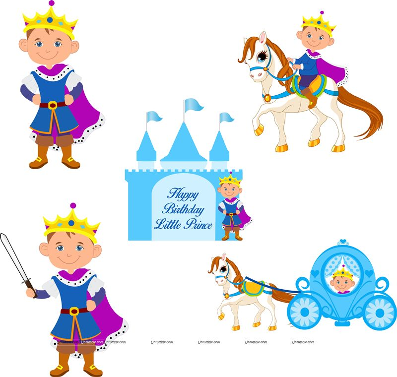 Little Prince Birthday theme Posters pack of 5