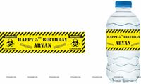 Water bottle wrappers - Lockdown Birthday Party