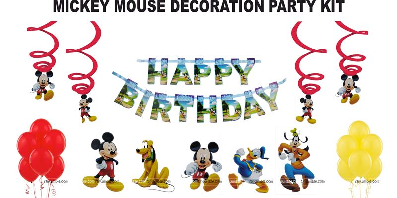 MIckey theme party decoration kit (Pack of 31 pcs)