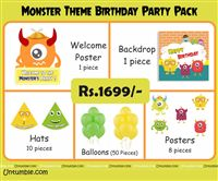 Monster Theme Mini Party Pack
