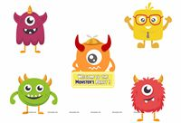 Monster Theme Poster Pack of 5