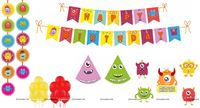 Monster theme Super saver birthday decoration kit (Pack of 58 pieces)