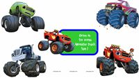 Monster Truck Theme Posters pack of 5